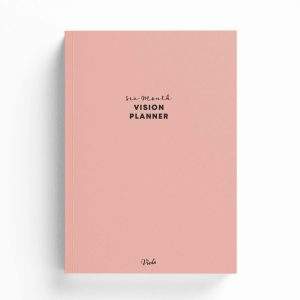 Six Month Undated Vision Planner – Pink