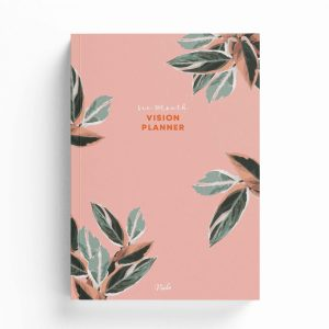 Six Month Undated Vision Planner – Pink Leaves